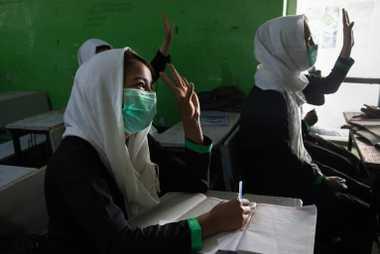 Niñas afganas en la escuela