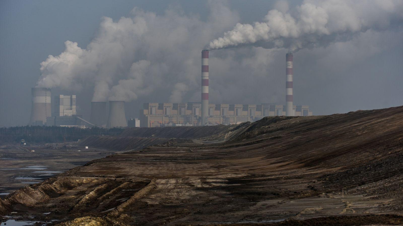 Planta de carbón en Polonia