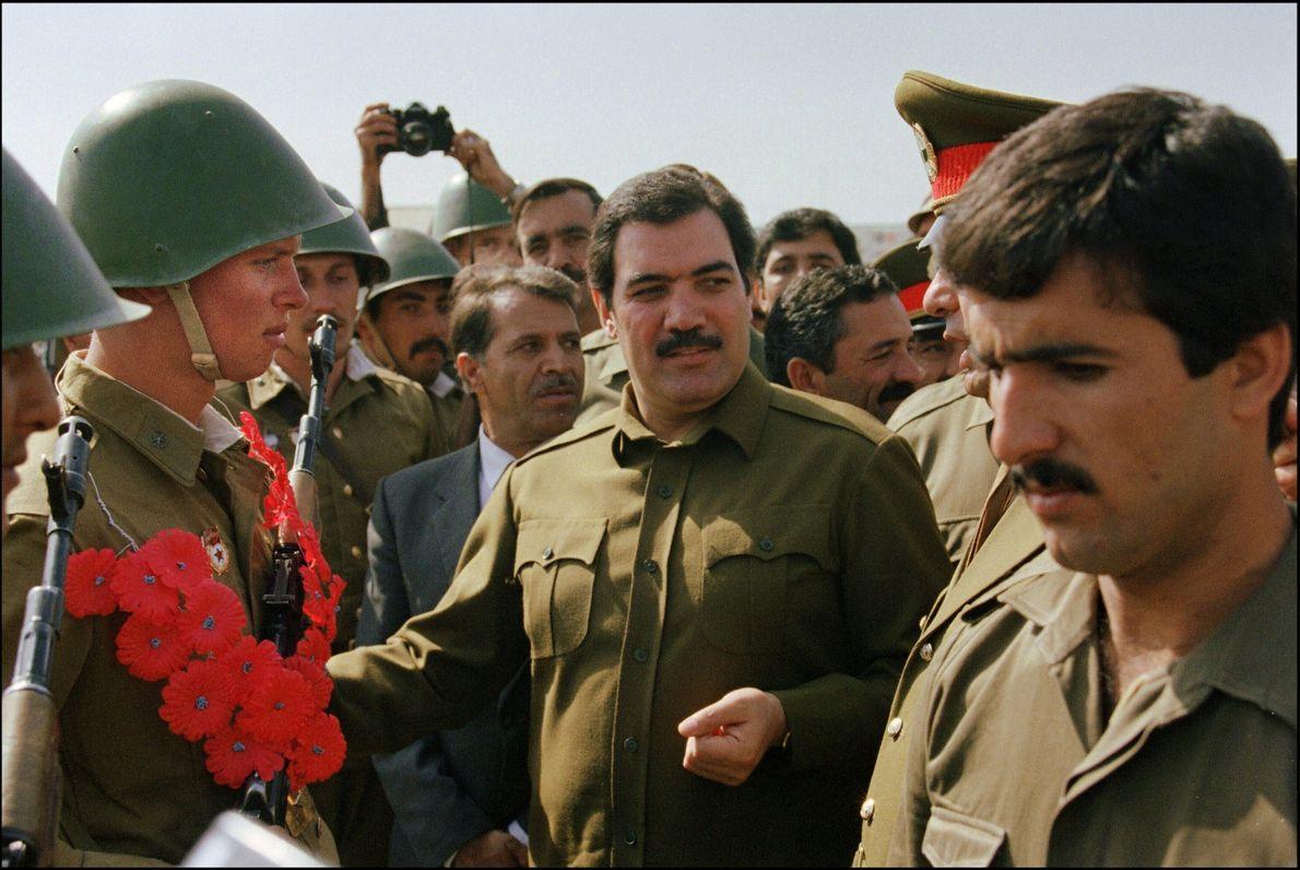 El presidente de Afganistán Mohammed Najibullah