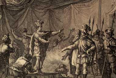 Cortes apresa a Moctezuma II