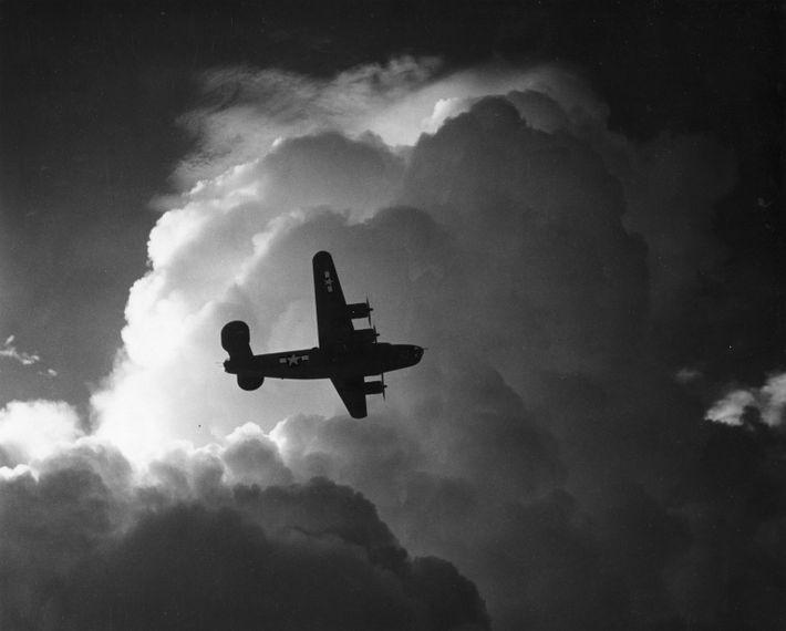 Un B-24 en vuelo