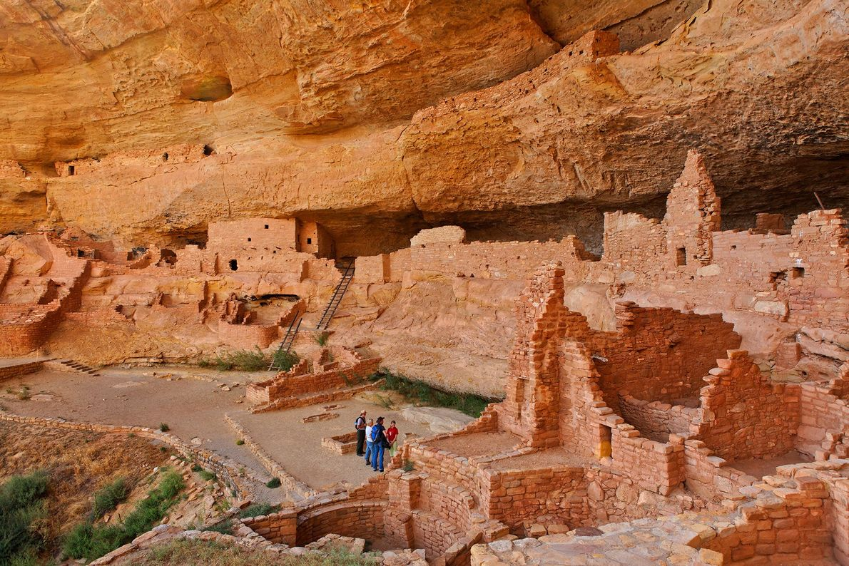 Mesa Verde National Park in Colorado is home to more than 600 cliff dwellings made by ...