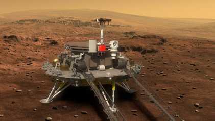 El róver chino Zhurong consigue aterrizar en Marte
