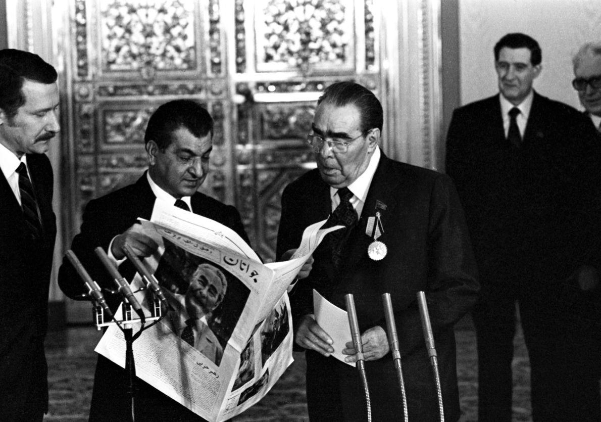 75 cumpleaños de Leonid Brézhnev