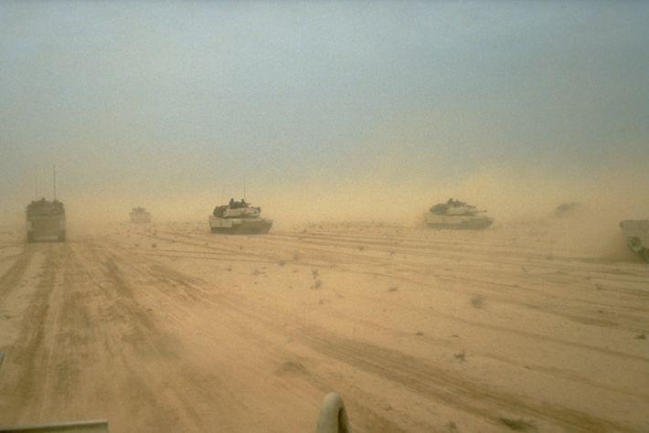Tanques de batalla Abrams M1A1