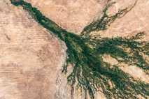 Delta del Okavango desde el espacio