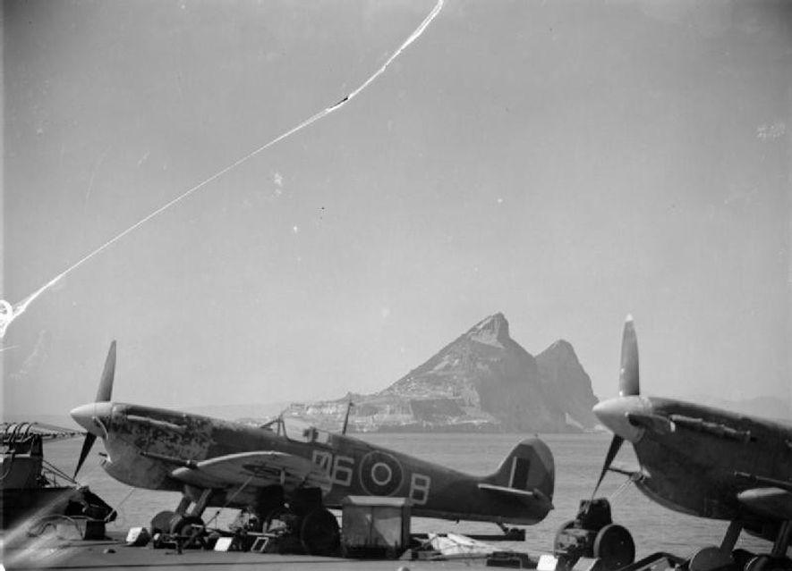 Spitfires en Gibraltar.