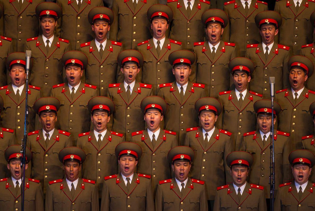 Un coro norcoreano