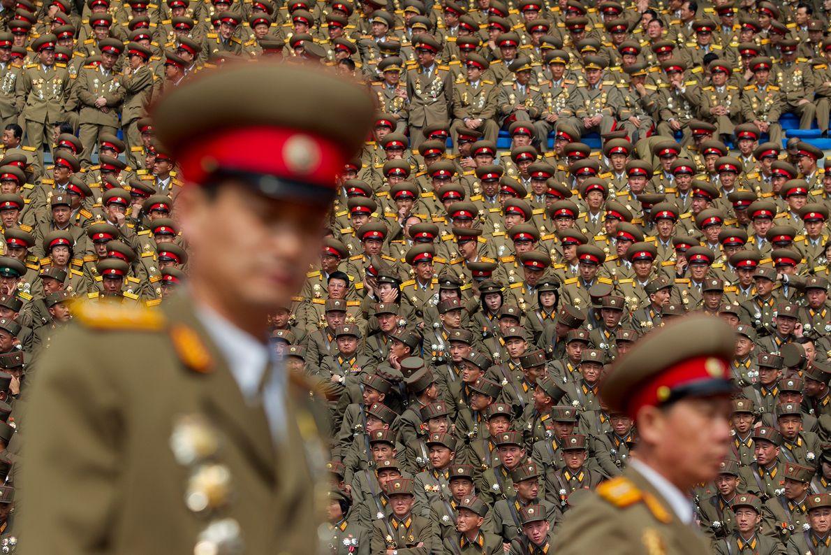Miembros del ejército de Corea del Norte