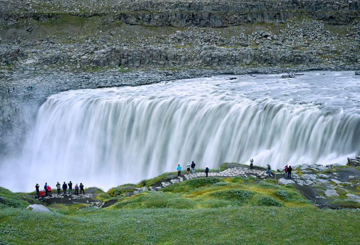 Fotografía de la cascada de Dettifoss