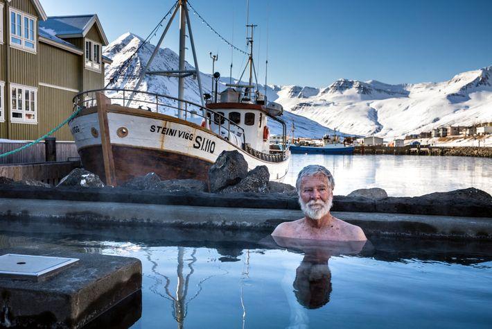 Fotografía de un balneario en Siglufjörður