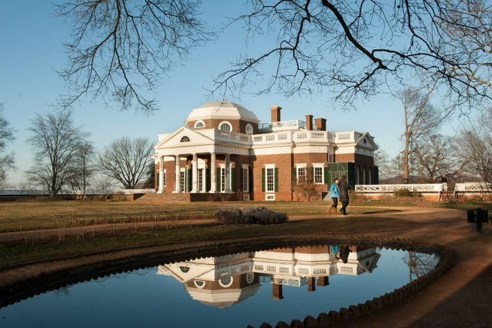 Fotografía de Monticello, Charlottesville, Virginia