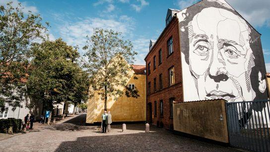 Mural del escritor Hans Christian Andersen