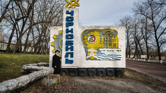 Los judíos jasídicos visitan Chernóbil