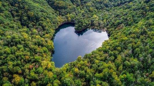 10 lugares en forma de corazón