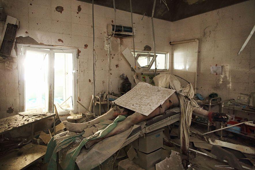 Hospital bombardeado, Afganistán