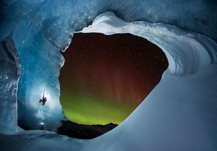 Escalada en hielo, Alberta, Canada