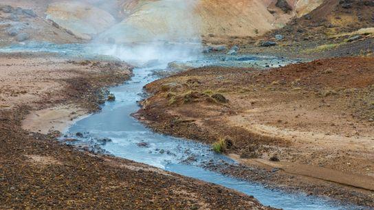 Área Geotérmica de Seltún en la península de Reykjanes,Islandia