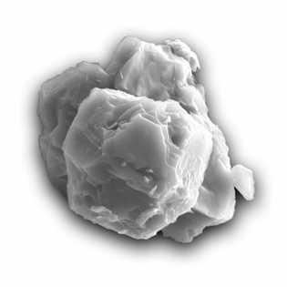 Grano de polvo de meteorito