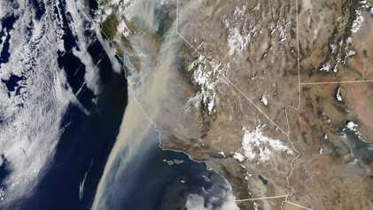 ¿Cómo llega el humo de los incendios de California hasta España?