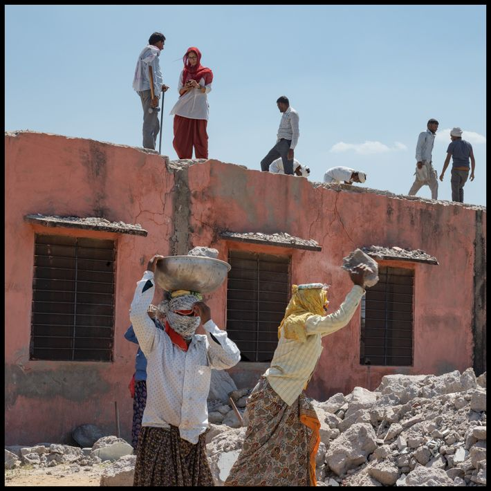 Líder de la aldea, la India