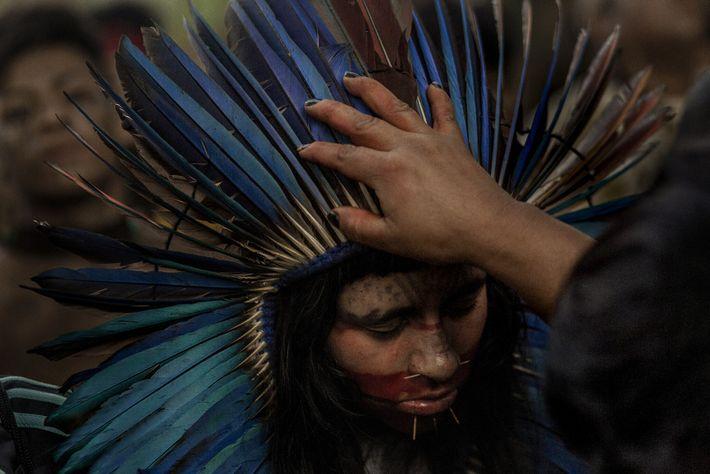 Protesta de la comunidad guaraní