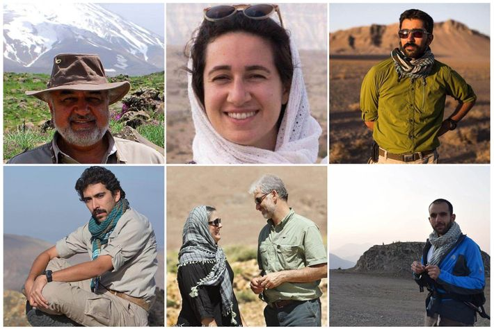 Los conservacionistas encarcelados de la Persian Heritage Wildlife Foundation. De los nueve encarcelados originalmente, Kavous Seyed-Emami ...