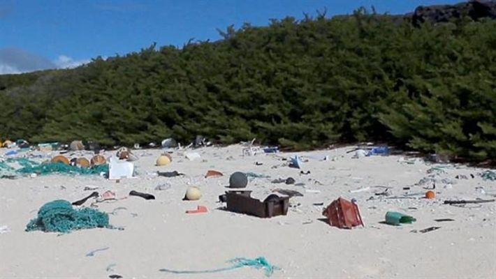 VÍDEO: Una isla remota cubierta por 38 millones de pedazos de deshechos plásticos