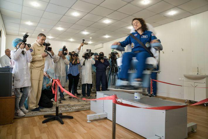 La astronauta de la NASA Jessica Meir