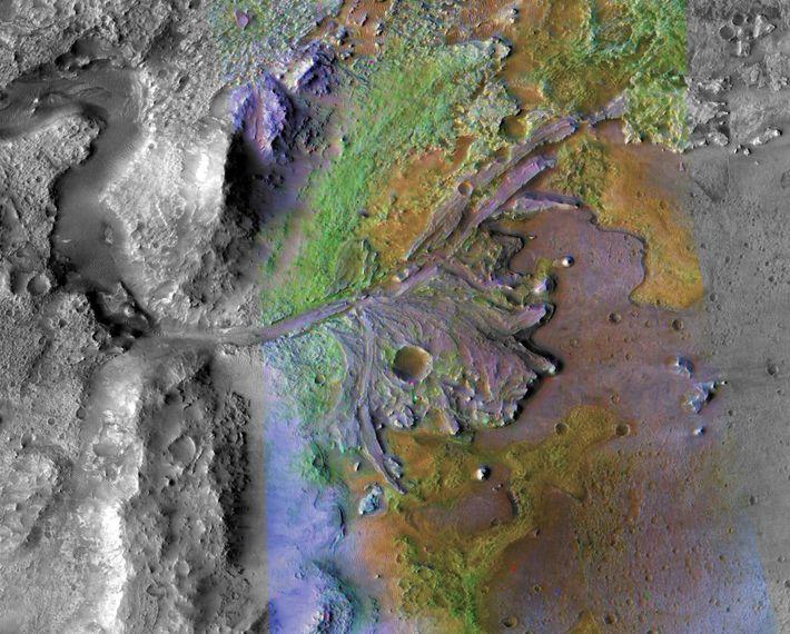 Imagen del cráter Jezero