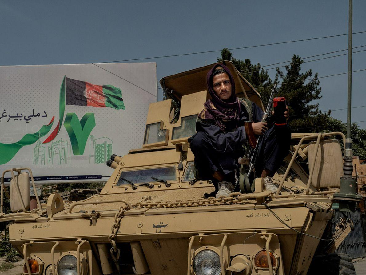 Miliciano talibán en Kabul
