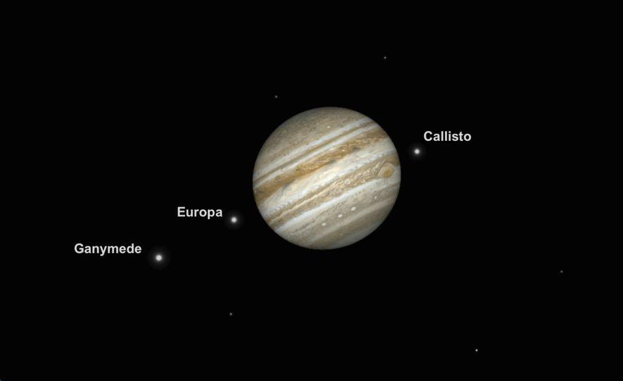 Júpiter se encontrará en su máxima grandeza y brillo el 10 de junio, lo que supondrá ...