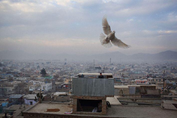Paisaje en Kabul, Afganistán