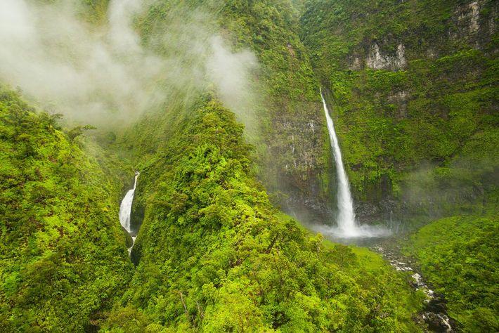 Cascadas de Hinalele, Kauai, Hawaii