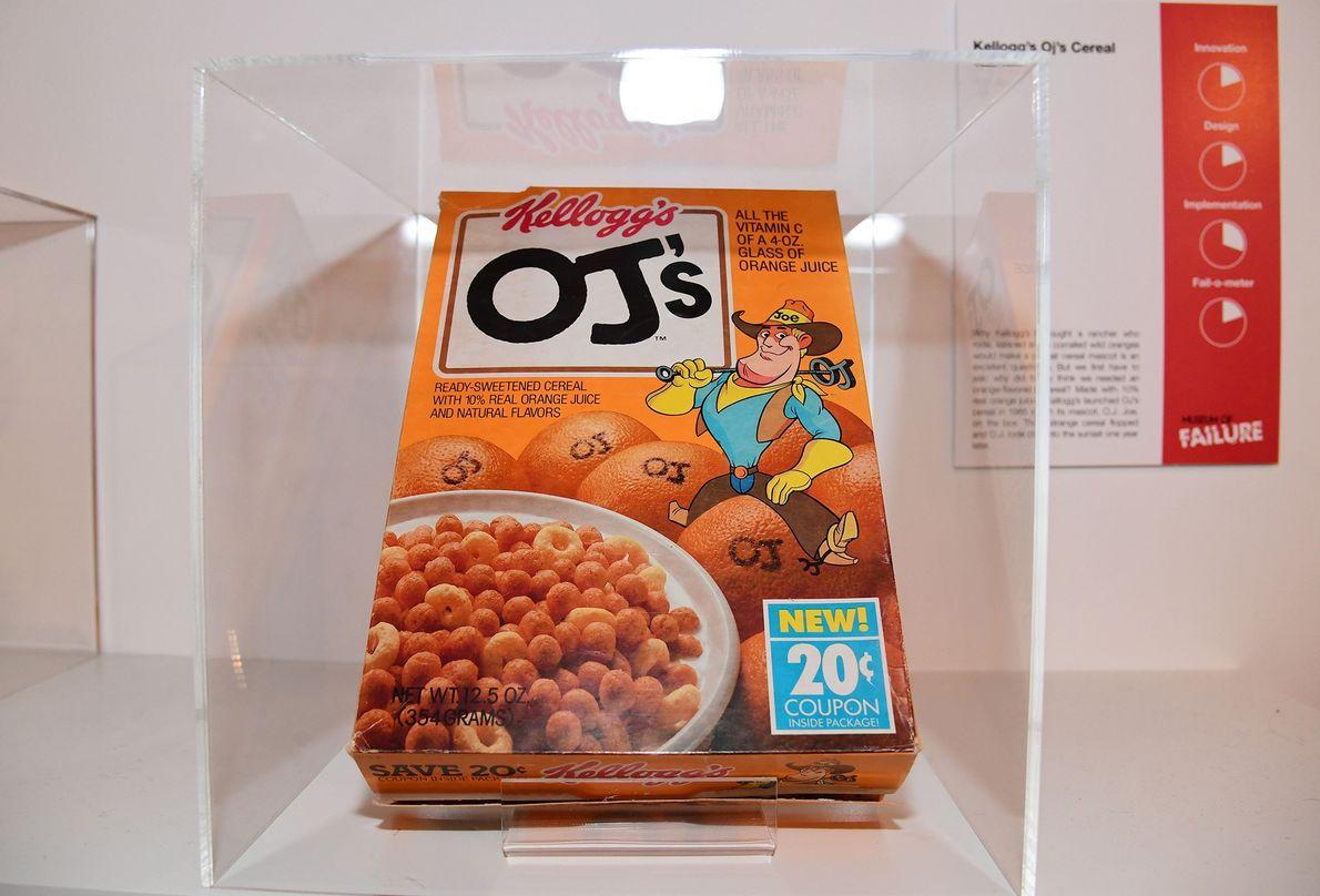Los cereales OJ's de Kellogs