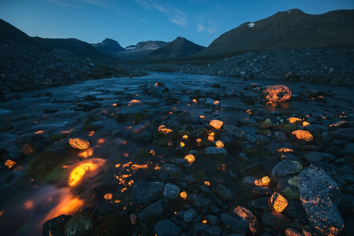 Rocas brillantes
