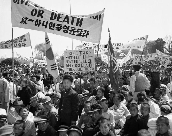 Manifestación en Seúl