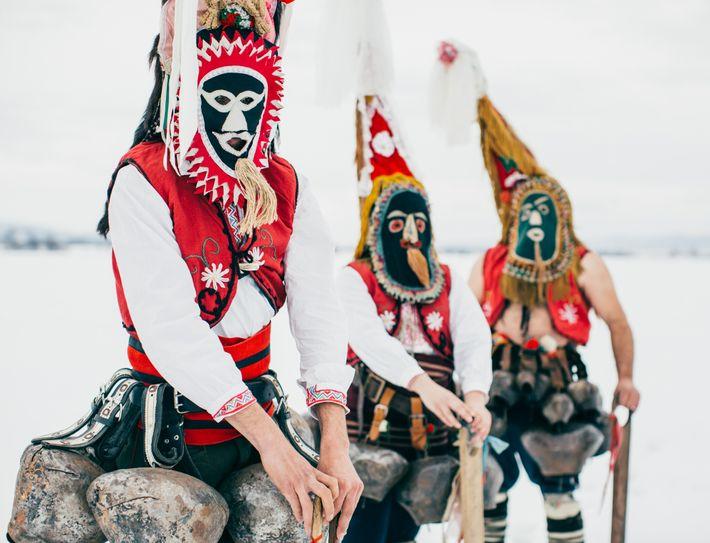 La práctica tradicional del kukeri