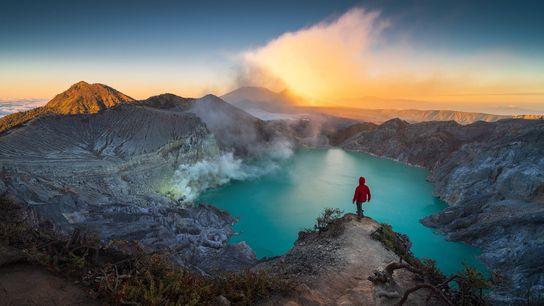 Volcán Kawah Ijen, Indonesia
