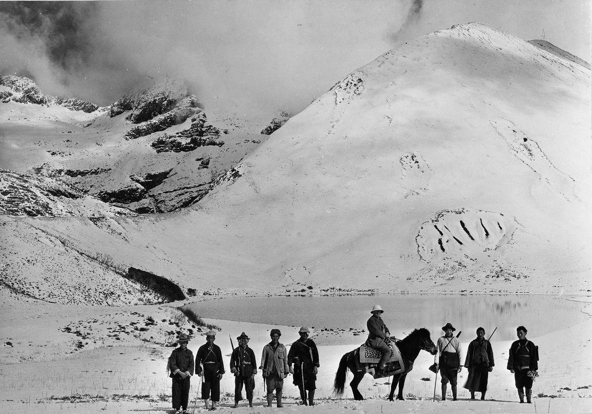 Los miembros de una expedición de National Geographic