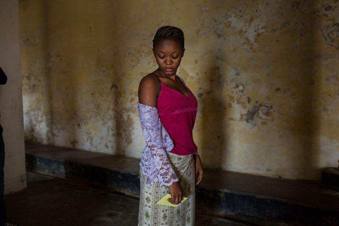 Joven congoleña