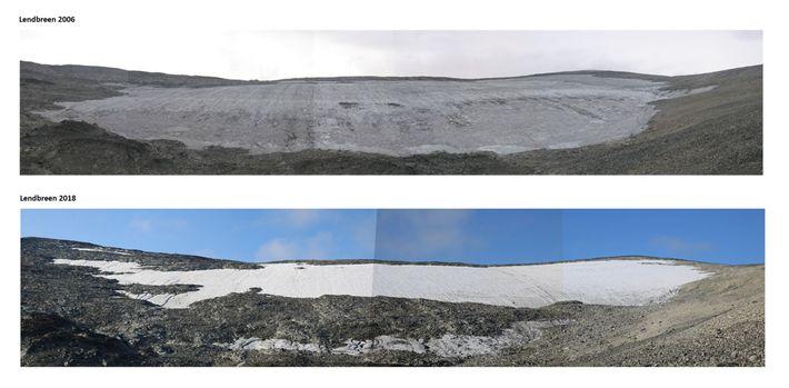 Parche de hielo de Lendbreen
