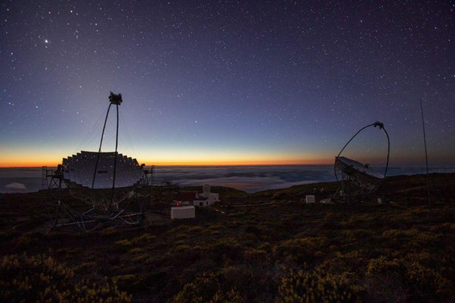 Telescopios MAGIC en el Observatorio del Roque de los Muchachos.