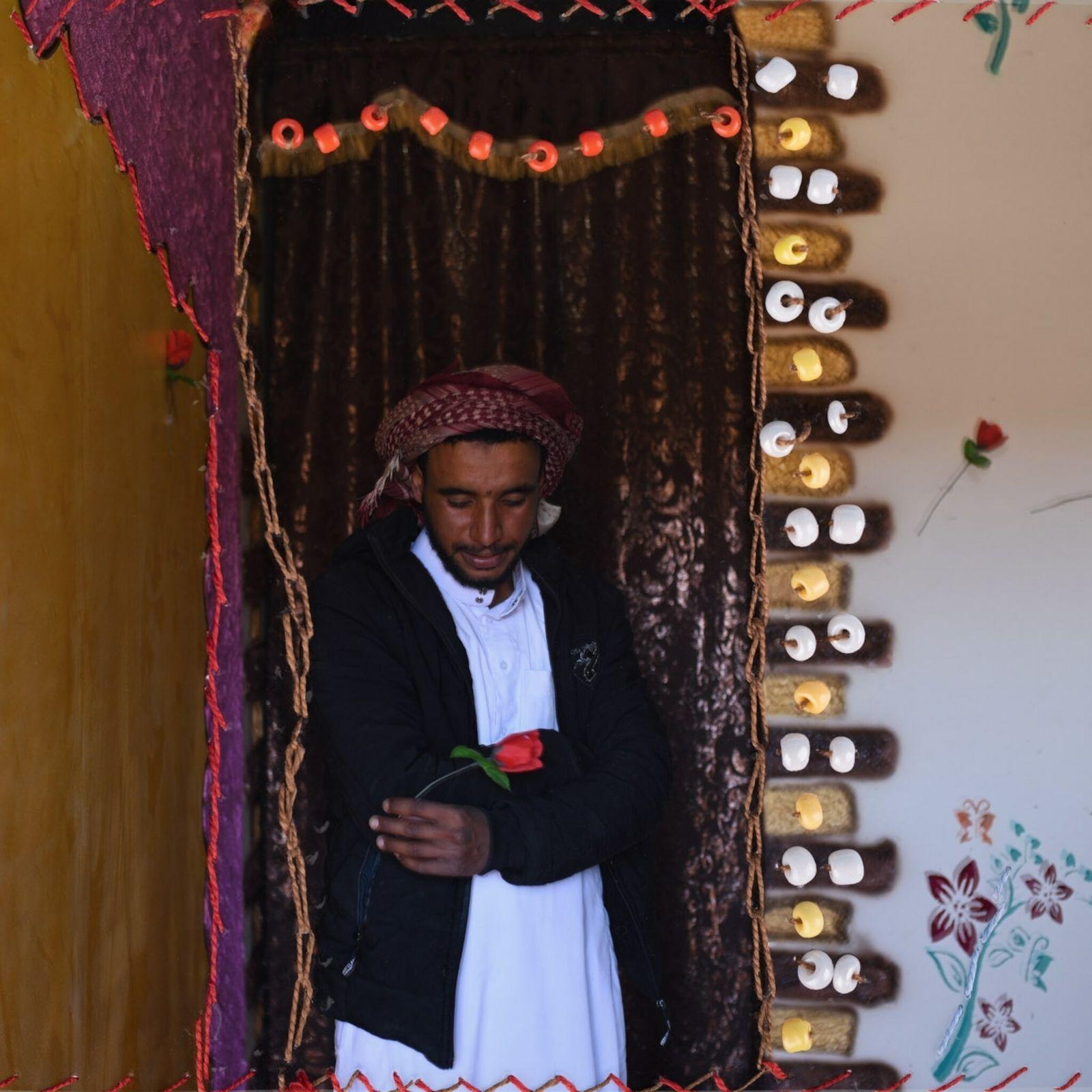 Una fotografía bordada de Mahmoud Abdo