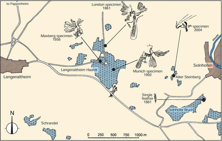Mapa del distrito de canteras de Alemania