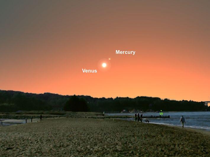 Los planetas Venus y Mercurio