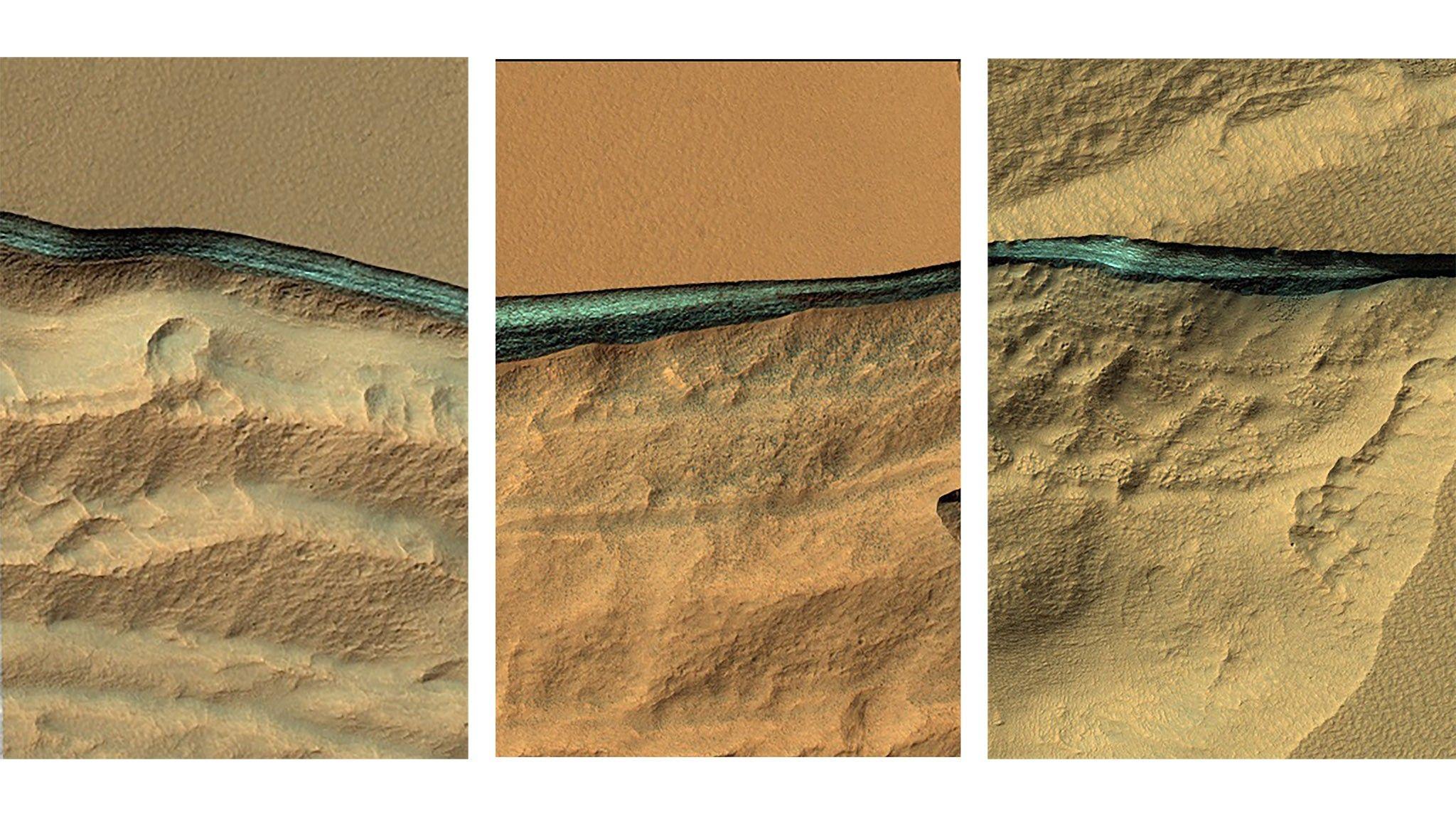 Descubiertas enormes reservas de agua en Marte
