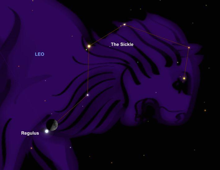 La Luna y Regulus