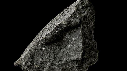 Un fragmento de meteorito
