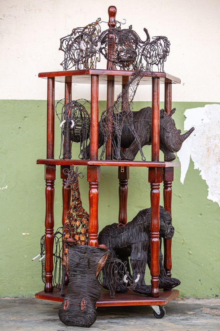 Estatuas de alambre